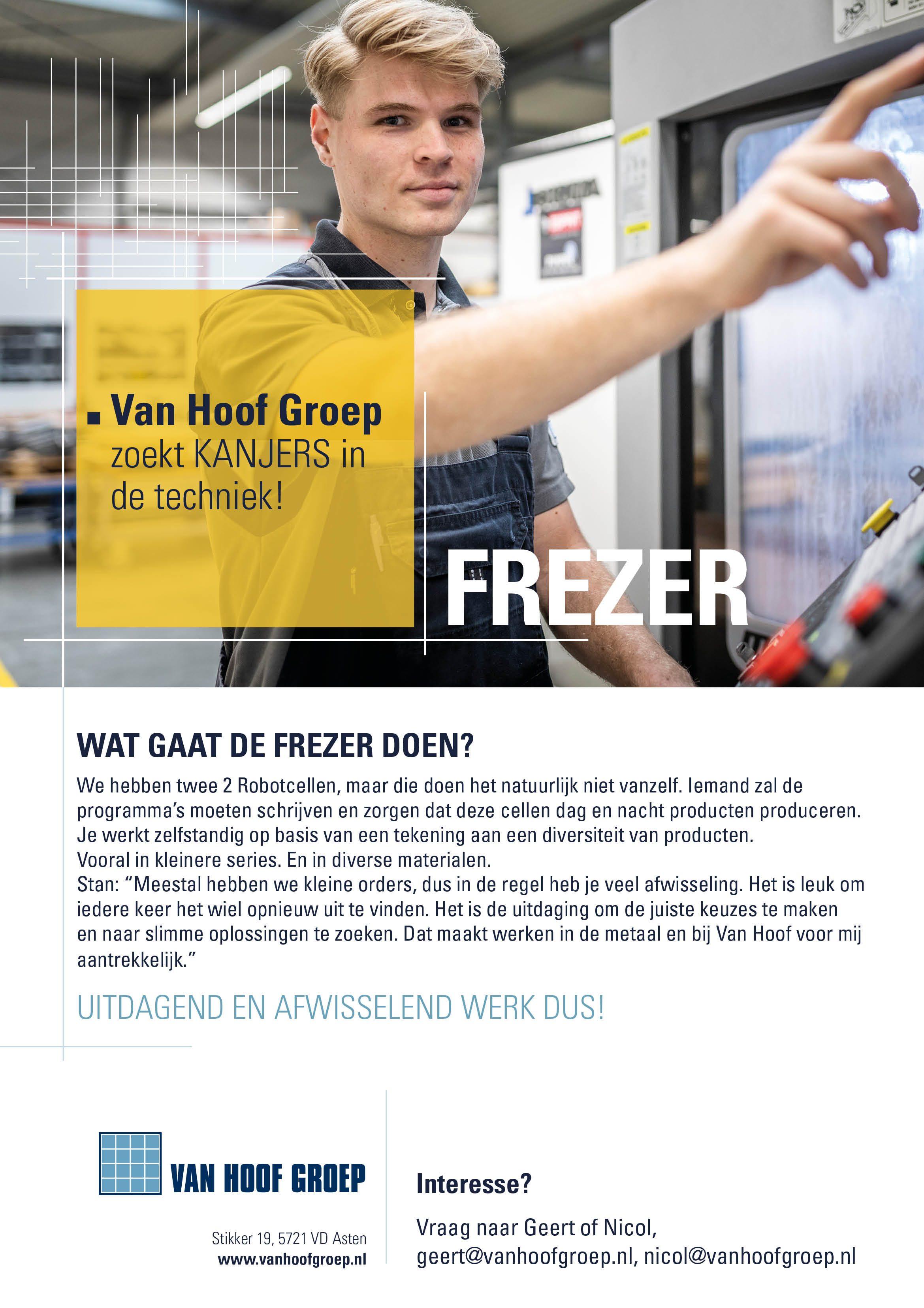 Vacature Posters Van Hoof Groep01